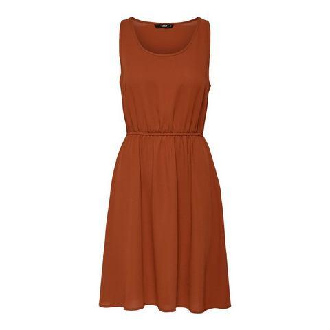 ONLY Effen Korte jurk oranje