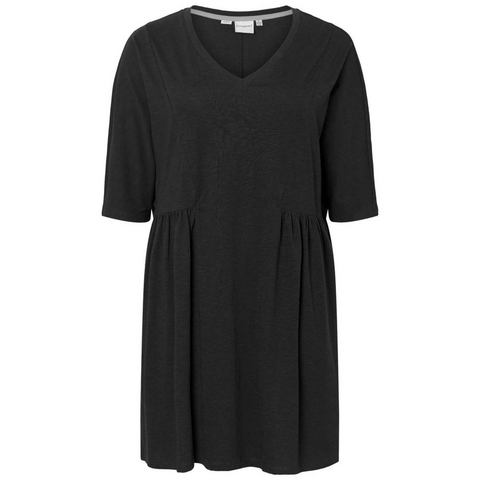 Junarose 3/4 mouwen jersey jurk zwart
