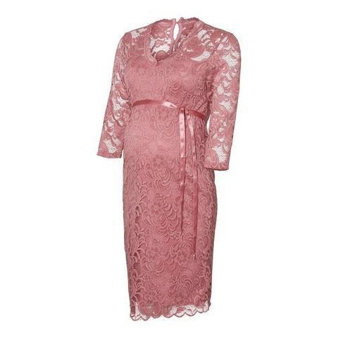 Mama Licious kanten Zwangerschapsjurk roze