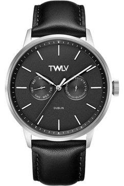 twlv multifunctioneel horloge »mr. king, tw4402« zwart