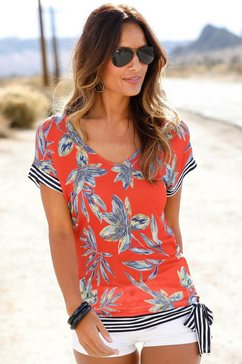 lascana strandshirt rood