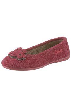 thies slippers met bloemtoepassing rood