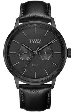 twlv multifunctioneel horloge »mr. king, tw4406« zwart