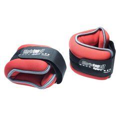 christopeit sport gewichtsmanchet 2 x 1,0 kg (set, 2-delig) rood
