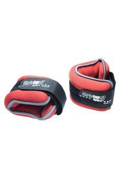 christopeit sport gewichtsmanchetten, set van 2, rood-zwart rood