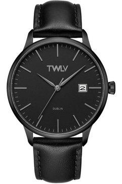 twlv kwartshorloge »mr. smith, tw4306« zwart