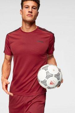 adidas t-shirt »d2m tee 3 stripes« rood