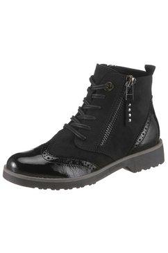 marco tozzi hoge veterschoenen zwart