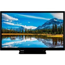 toshiba 24w2963da led-tv (60 cm - (24 inch), hd-ready, smart-tv zwart