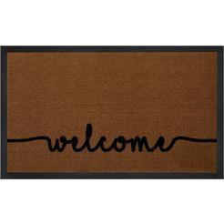 mat, »cozy welcome«, hanse home, rechthoekig, hoogte 5 mm, machinaal getuft bruin