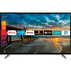 telefunken d50u600m4cw led-tv (127 cm - 50 inch), 4k ultra hd, smart-tv zwart