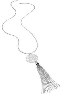 lascana lange ketting met ornament en kwastje zilver