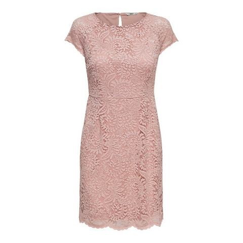 ONLY kanten Korte jurk paars