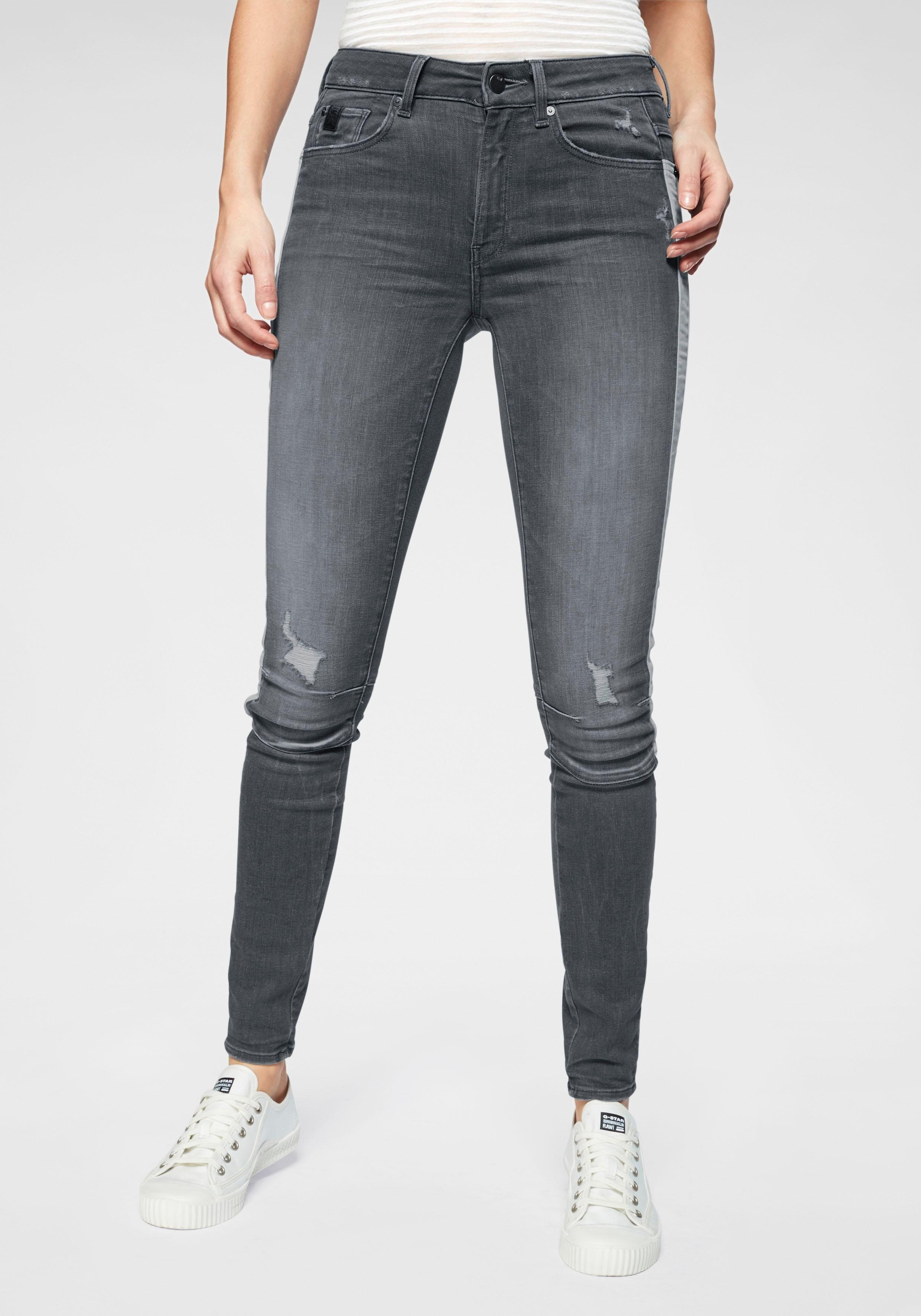G-star Raw skinny fit jeans »Biwes Stripe High Skinny Wmn« online kopen op otto.nl