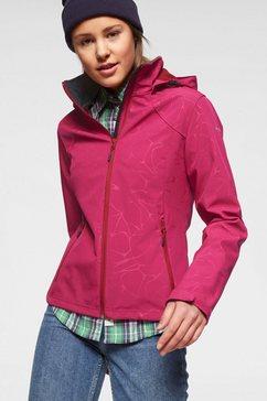icepeak softshell-jack »vilma« roze