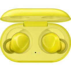 samsung »galaxy buds sm-r170« wireless in-ear-hoofdtelefoon (bluetooth, ingebouwde microfoon) geel