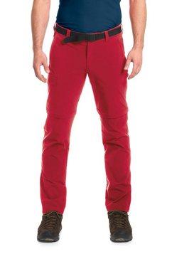 maier sports functionele broek »torid slim zip« rood