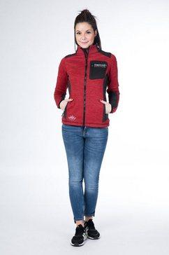 deproc active tricot-fleecejack »whitecourt waffelfleece women« rood