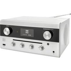 dual radio »cr 900 phantom« radio (digitalradio (dab+),ukw met rds,internetradio, 20 watt) wit