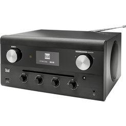 dual radio »cr 900 phantom« radio (digitalradio (dab+),ukw met rds,internetradio, 20 watt) zwart