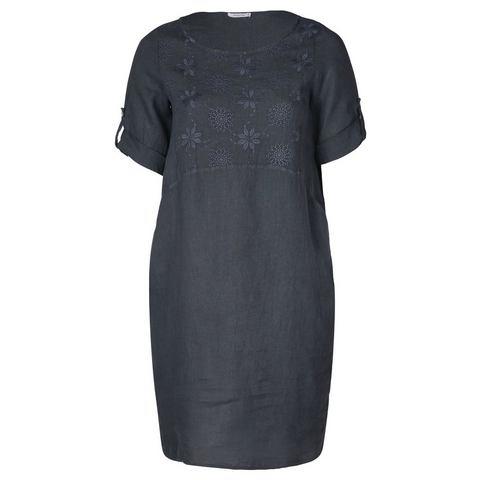 Linnen jurk met borduurwerk,  $( function () {    $(