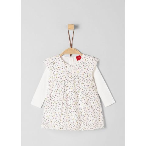 NU 15% KORTING: s.Oliver RED LABEL Junior Feestelijke jurk met 2-in-1 look voor baby