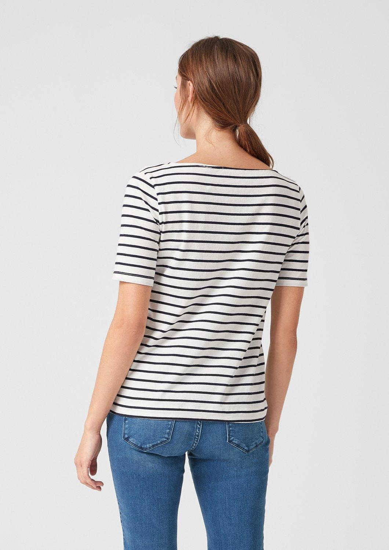 De Online Gestreept In Red Katoen Winkel Shirt Label oliver S Van LpqSUVMzG