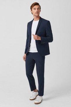 s.oliver black label slim: pantalon met comfortabele stretch blauw