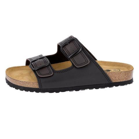 LICO Slippers-Muiltjes zwart-bruin