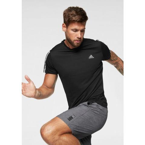 adidas Run 3 Stripe Tee Hardloopshirts (korte mouwen)