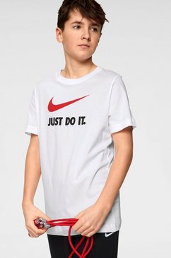 nike sportswear t-shirt »boys nike sportswear tee just do it swoosh« wit