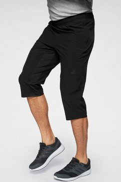 adidas performance sportbroek »cool 3-4 pant woven« zwart
