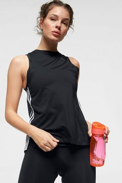 adidas performance functionele top »3 stripes loose tank« zwart