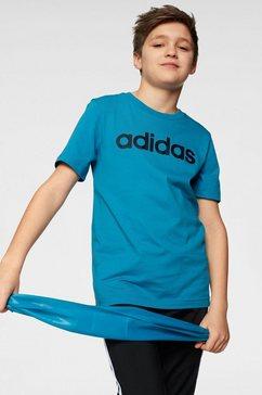 adidas t-shirt »e linear tee« blauw