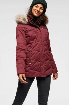 polarino gewatteerde jas rood