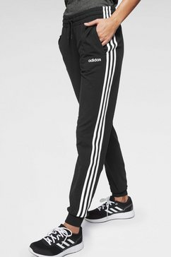 adidas joggingbroek »w e 3 stripes pant sj« zwart