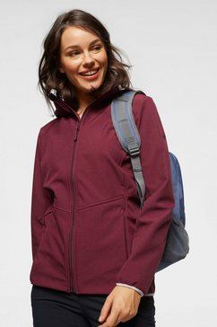 jack wolfskin softshell-jack »sky point« rood