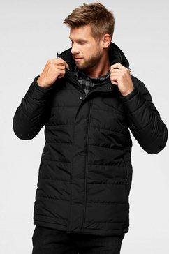 jack wolfskin doorgestikte jas svalbard zwart