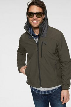 jack wolfskin softshell-jack »sky point« groen
