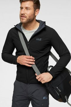 jack wolfskin softshell-jack »northern point« zwart