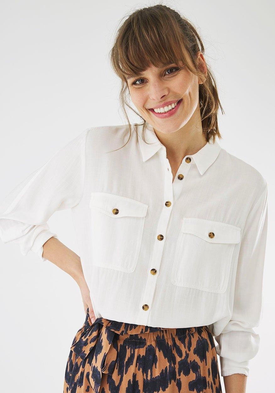 Mexx overhemdblouse met opgestikte borstzakken - verschillende betaalmethodes