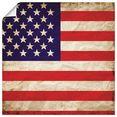 artland artprint vs amerikaanse vlag in vele afmetingen  productsoorten - artprint van aluminium - artprint voor buiten, artprint op linnen, poster, muursticker - wandfolie ook geschikt voor de badkamer (1 stuk) rood