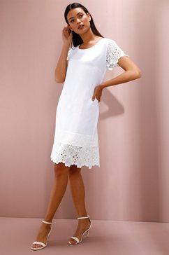 creation l jurk in hoogwaardige linnen-lyocellkwaliteit wit