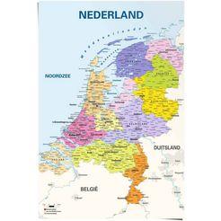 reinders! poster schoolkaart nederland nederlands - nederlandse tekst (1 stuk) multicolor