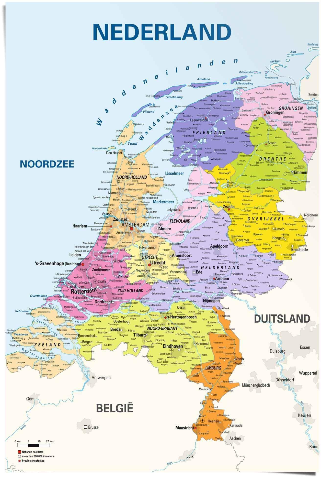 Reinders! poster schoolkaart Nederland Nederlands - Nederlandse tekst (1 stuk) online kopen op otto.nl