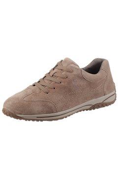 gabor sneakers met sleehak florence met verwisselbaar optifit-voetbed beige