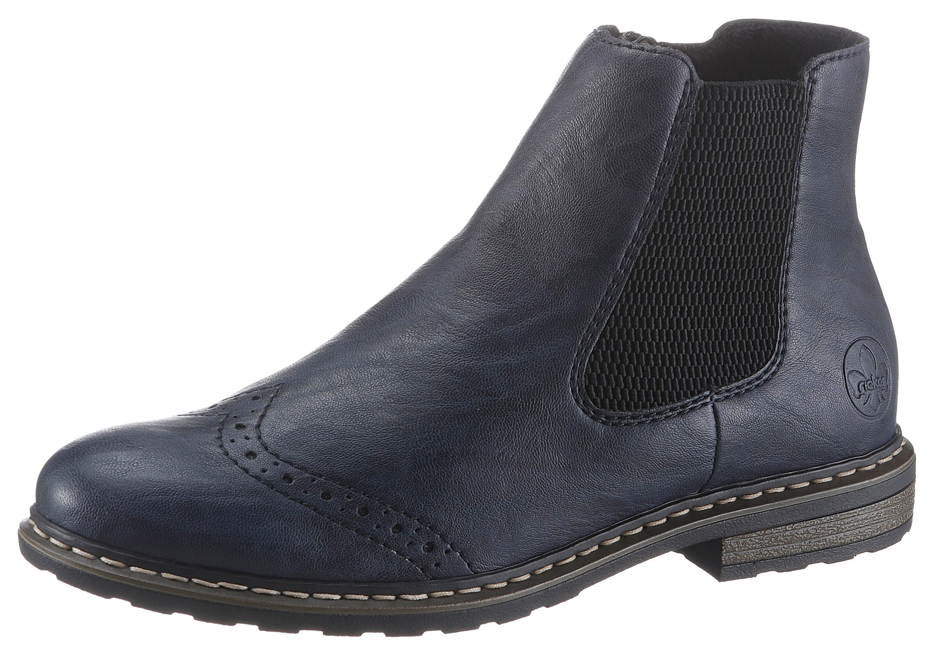 Rieker Chelsea-boots met lyra-perforaties bestellen: 30 dagen bedenktijd