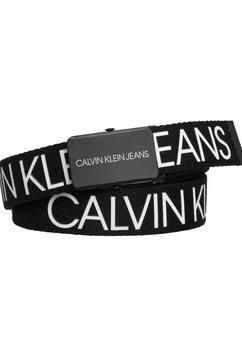 calvin klein koppelriem »canvas logo belt« zwart
