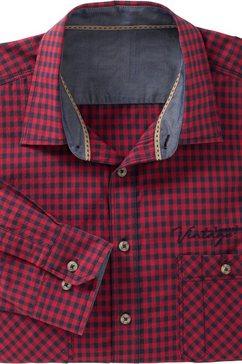 classic overhemd met lange mouwen van katoen rood