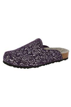 lico clogs »pantolette bioline clog flower - lila« paars